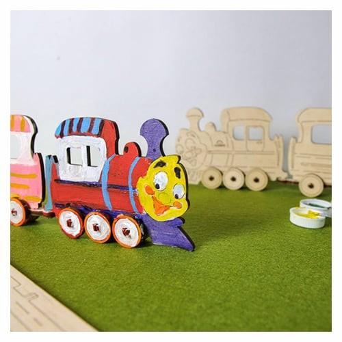 Ugears à peindre : Petit train