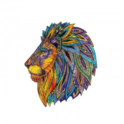 GoPuzzle : Le légendaire Lion (boite bois)