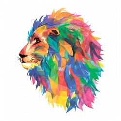 Puzzle Creatif : Le Lion Mozaik