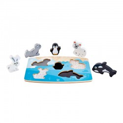 Puzzle tactile - animaux polaires