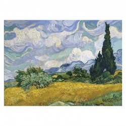 Wheat Field with cypresses - MicroPuzzle 40p bois Wentworth