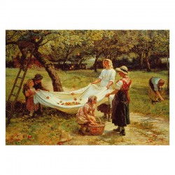 The Apple Gatherers - MicroPuzzle 40p bois Wentworth