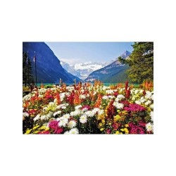 Garden Flowers of Lake Louise - MicroPuzzle 40p bois Wentworth