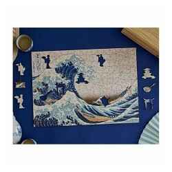 The great wave of Kanagawa - MicroPuzzle 40p bois Wentworth