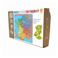Régions de France -Puzzle bois 24p