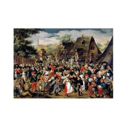 The village festival - MicroPuzzle 40p bois Wentworth