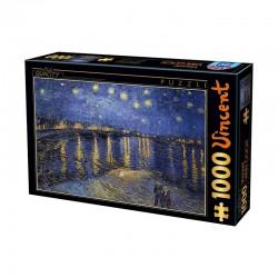 Puzzle La Nuit étoilée au-dessus du Rhône (Van Gogh)