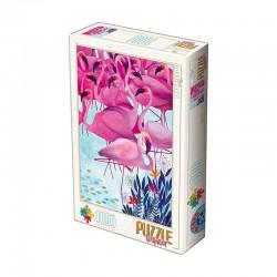 Puzzle D-toys andrea kurti-Flamants 1000p