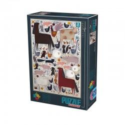 Puzzle D-toys Andrea Kurti Ferme des Animaux