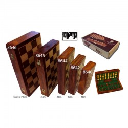 Jeu d'échecs magnétique pliable 30cm (buis-palissandre)