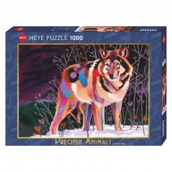 Puzzle Precious Animals : Night Wolf (Coonts)