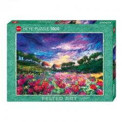 Felted Art : Sundown Poppies