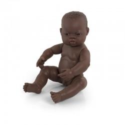 Poupée bébé garçon africain 40cm