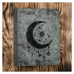 Carnet en bois Sketchbook Lune