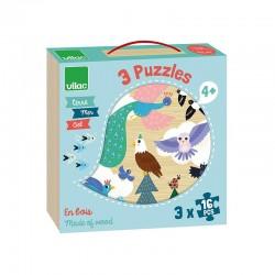 Coffret puzzles Terre - Mer - Ciel 3x16 pcs