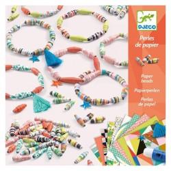 Perles de papier : bracelets de printemps