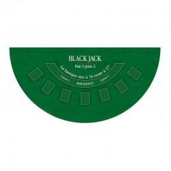 Tapis Coeur de pique Black Jack Vert