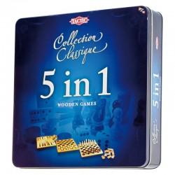 5 en 1 bois Boîte métal (Multi)