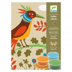 Sables colorés: Oiseaux de paradis