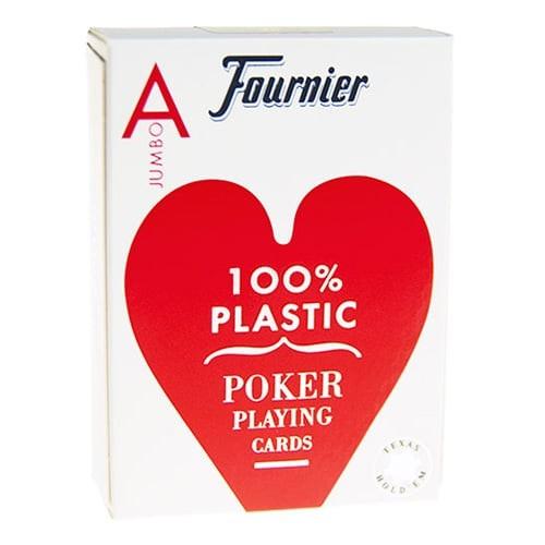 Jeu de 54 cartes 100% Plastique Fournier