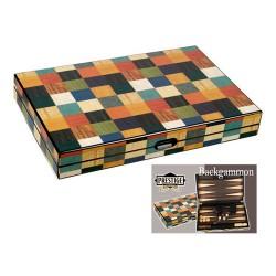 Backgammon marqueté Arlequin 38cm