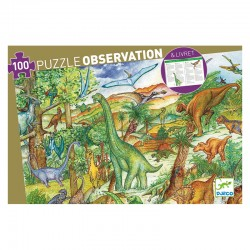 Puzzle Observation : Dinosaures+livret