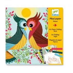 Papier plissé : Oiseaux