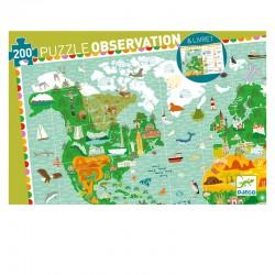 Puzzle Observation : Tour du monde