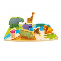 Puzzle figurines animaux sauvages