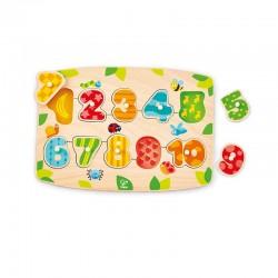 Puzzle à boutons chiffres