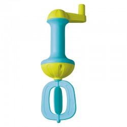 Batteur de mousse de bain bleu