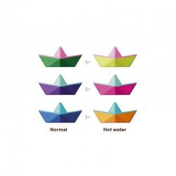 Bateaux Origami à changement de couleur