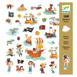 160 Stickers : Pirates