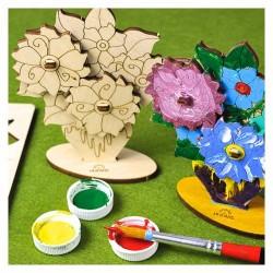 Ugears à peindre : Bouquet de fleurs
