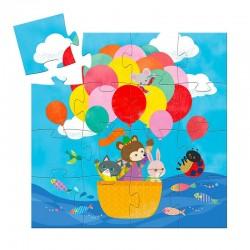 Puzzle silhouette : La montgolfière