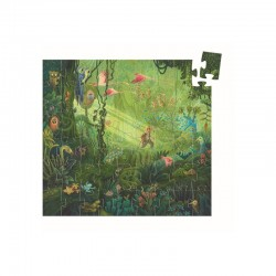 Puzzle silhouette : Dans la jungle