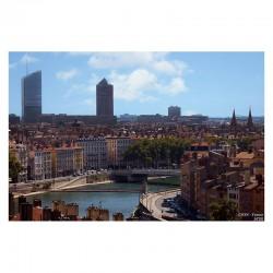 Puzzle vue de Lyon quais de Saône