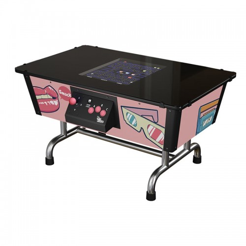 Arcade Table Back in Time Pink