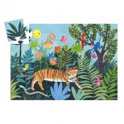 Puzzle silhouette : La balade du tigre