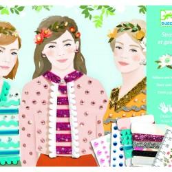 Papier créatif : filles des quatres saisons