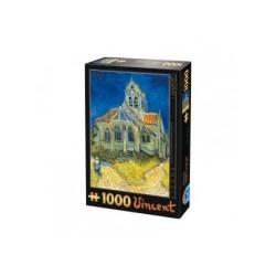 Puzzle L'église d'Auvers (Van Gogh)