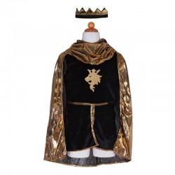 Set Chevalier Dorée tunique, cape et couronne 7-8 ans